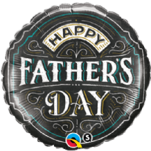"Fathers Day Chalkboard Foil Balloon (18"") 1pc"